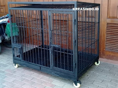 Kandang Anjing Besi pesanan Bpk Gunawan di Cengkareng Jakarta Barat