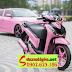 Mẫu sơn xe Honda Sh150i màu hồng cực đẹp