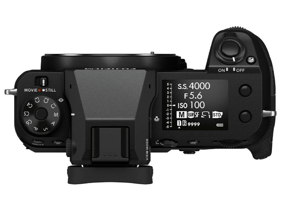 Fujifilm GFX 100S, вид сверху