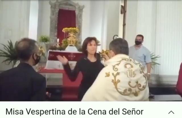 MUJER ABOFETEÓ AL PÁRROCO DE LA CATEDRAL DE SAN CRISTÓBAL EDO. TACHIRA