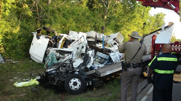 Box truck, bucket truck in fatal accident on FM149 in Montgomery