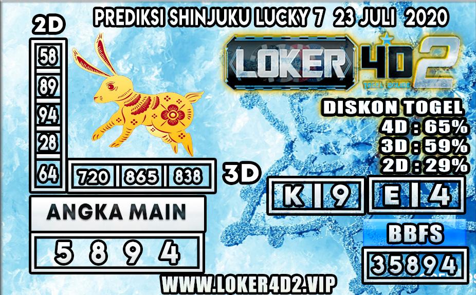 PREDIKSI TOGEL LOKER4D2 SHINJUKU LUCKY 7 23 JULI 2020