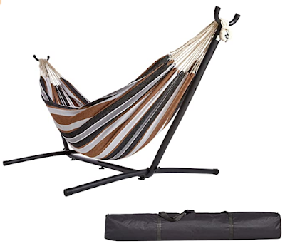 AmazonBasics Fabric Hammock with Stand - To Get Relax after a Long Busy Day