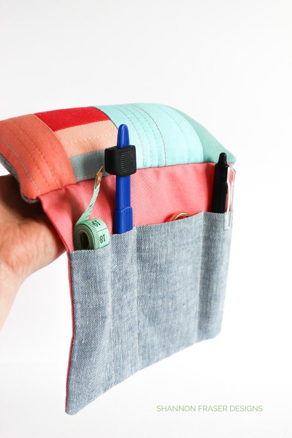 Sew Organized Pin Cushion   January Aurifil Artisan Challenge   Shannon Fraser Designs #pincushion #sewingnotions
