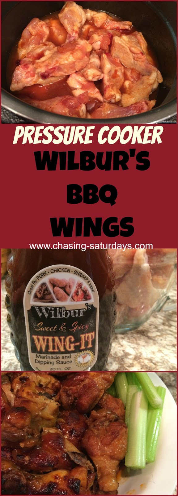 Instant Pot, Pressure Cooker BBQ Wings are easy to make and kid-approved! Chasing Saturdays, easy meal