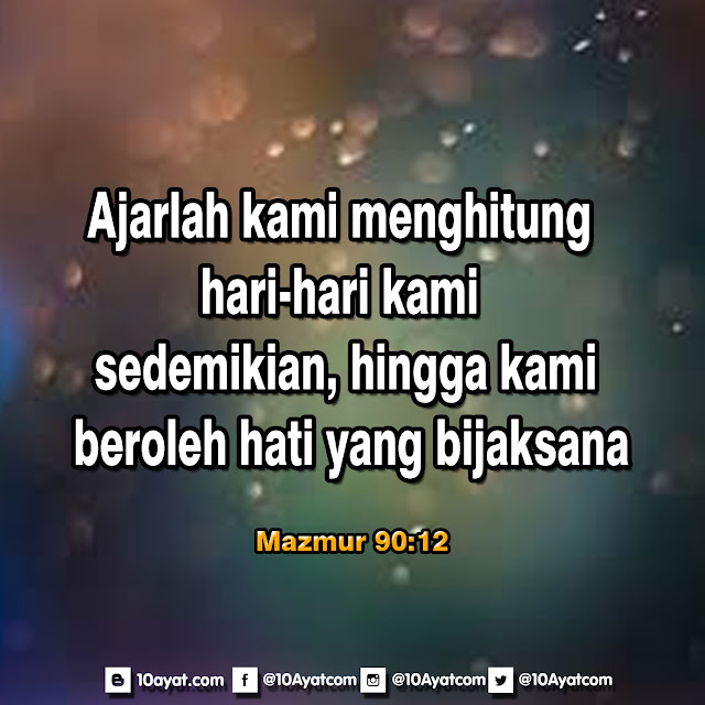 Mazmur 90:12
