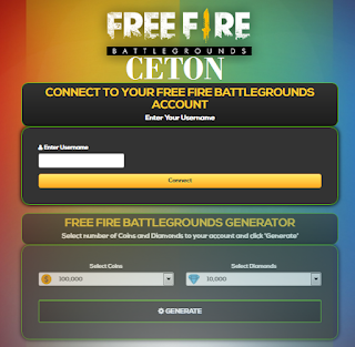 Free fire hack diamonds with Ceton