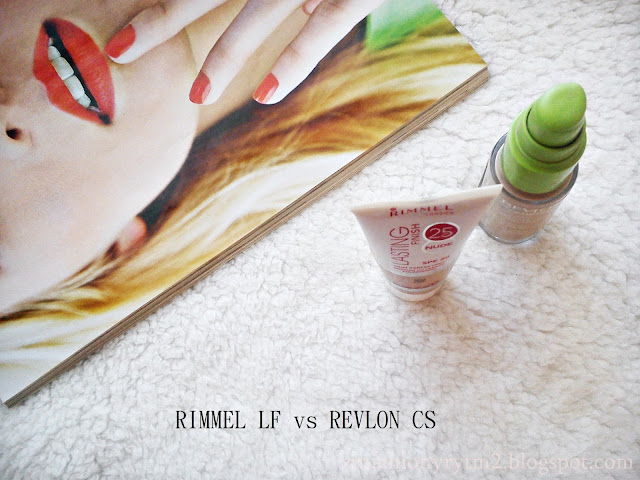 Revlon ColorStay vs Rimmel Lasting Finish Nude 25 HR