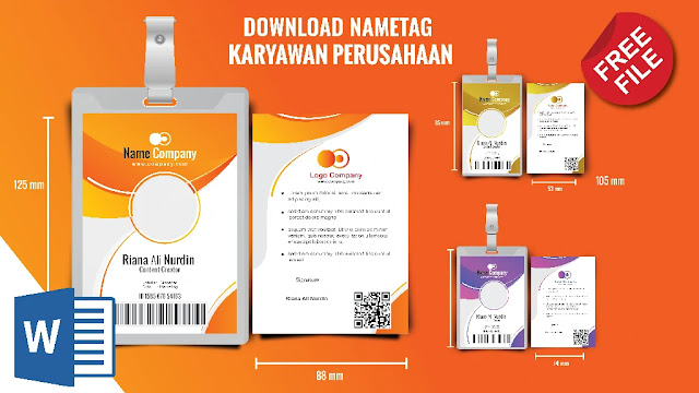 emplate Format ID Card Karyawan Word 5