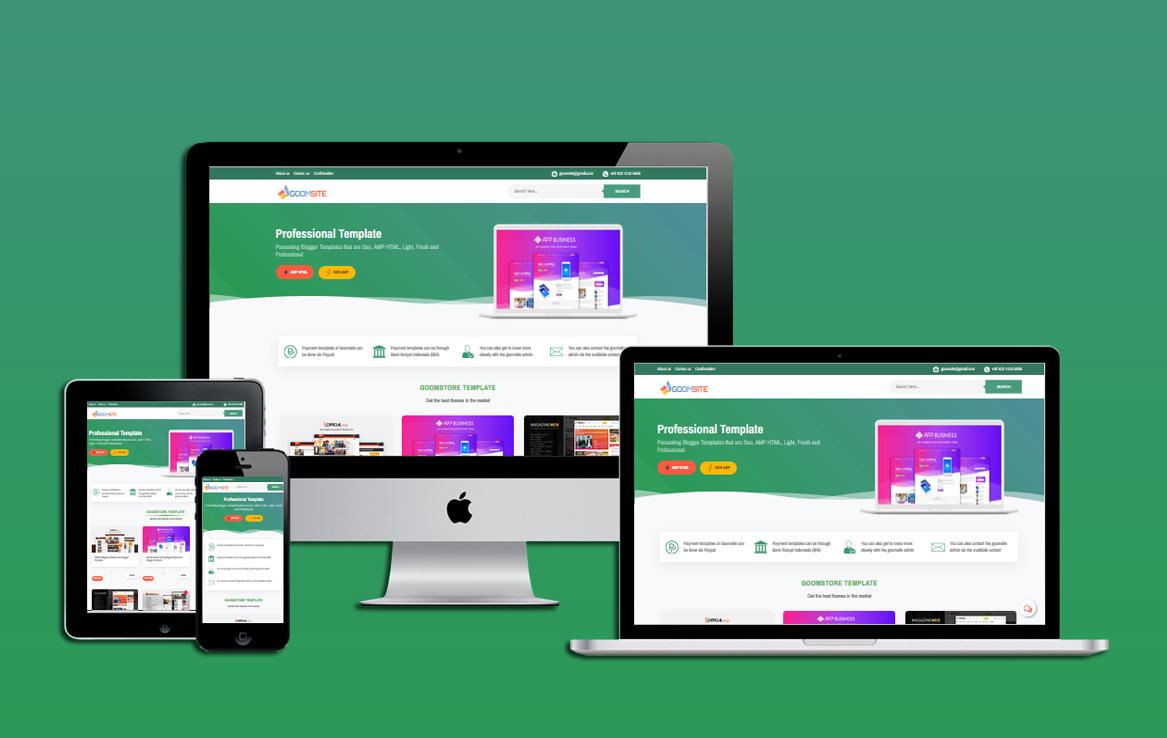 Goomsite Izzan Nabil  v2.01 AMP HTML Responsive Blogger Template