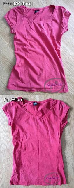 farbowanie wyblakłego t-shirtu DIY