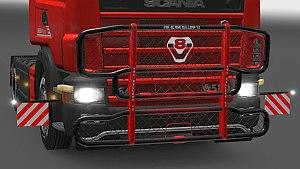 V8 Paintable Bullbar also for Scania 4