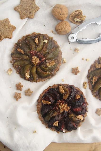 Cuillère et saladier : Tartelettes figues et noix (vegan)
