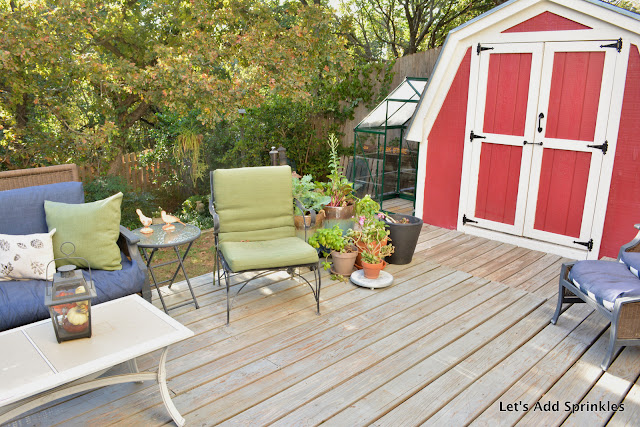 Deck, Red Shed,Palram Nature Hybrid Greenhouse