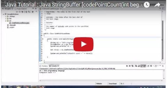 Java ee java tutorial java stringbuffer codepointcount for Object pool design pattern java