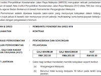 Jawatan Kosong di Institut Penyelidikan Keselamatan Jalan Raya Malaysia (MIROS)