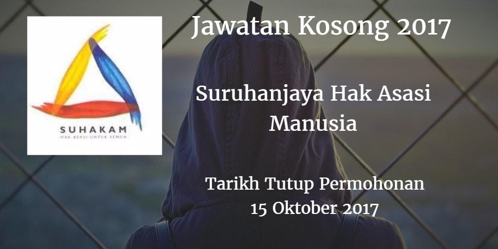 Jawatan Kosong SUHAKAM 15 Oktober 2017