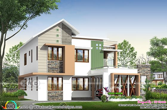 2375 sq-ft 4 BHK house architecture