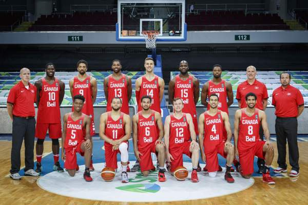 Canada Men's Basketball Team Line-up (Roster). Image courtesy of FIBA.com