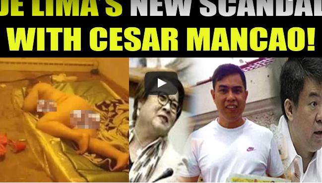 De Lima Di Lang Kay Dayan May Video, Meron Din Kay Cesar Mancao