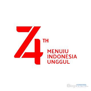 HUT RI 74 (2019) Logo vector (.cdr)