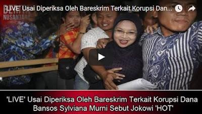 Usai Diperiksa Oleh Bareskrim Terkait Korupsi Dana Bansos Sylviana Murni Sebut Jokowi