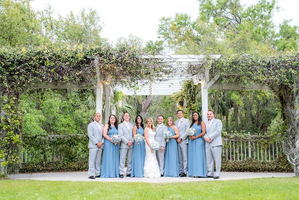 Wedding party bridesmaids and groomsmen