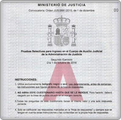 2%2Bejercicio Examen y Respuestas Auxilio Judicial 2015