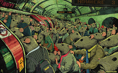Ilustración en el metro de la ciudad