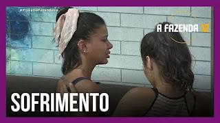 A Fazenda 12 – Jakelyne sofre com escolha de Mariano – Mariano explica à Tays escolha – Mateus fala sobre voto na Victória