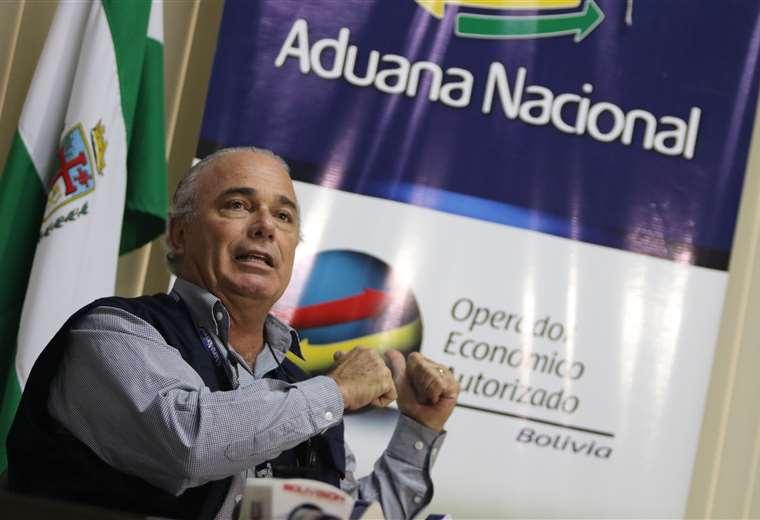 Jorge Hugo Lozada, presidente de la Aduana / EL DEBER