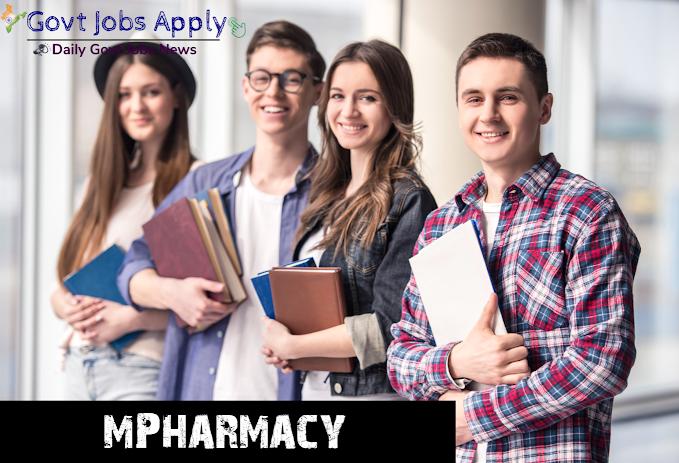 M Pharmacy Latest Govt Jobs