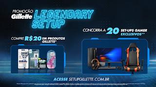 Promoção  Gillette Legendary Set-UP