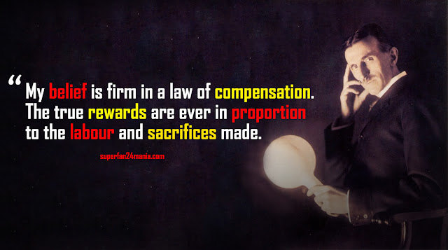 My belief is firm in a law of compensation. The true rewards are ever in proportion to the labour and sacrifices made.