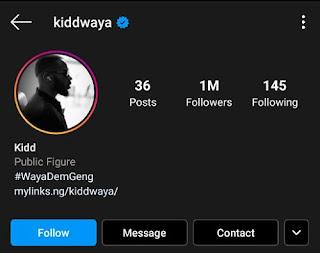 Kiddwaya Hits 1 Million Followers On Instagram