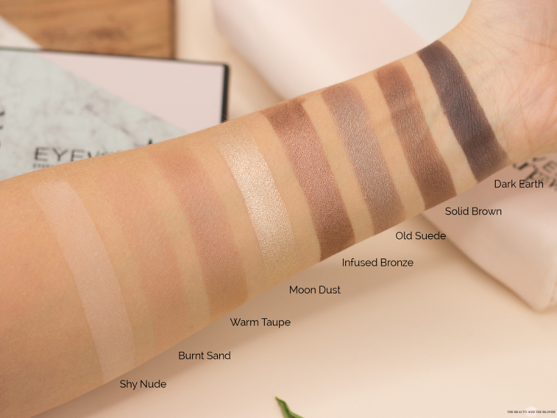L.O.V Code: Nude Eyeversity Eyeshadow Palette Review Swatches Drogerie