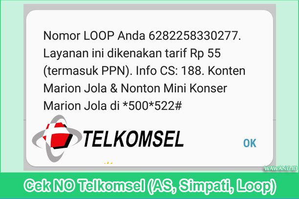 Cek NO Telkomsel (AS, Simpati, Loop)