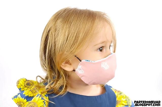 Máscara infantil molde