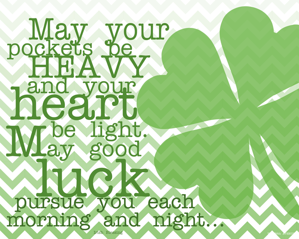 St. Patrick's Day Sayings, Blessings Quotes