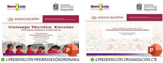 Presentación en  PowerPoint 1era Sesion CTE y Organizacion CTE