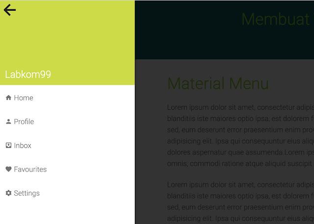 Membuat Template Menu Sidebar Material Design HTML5