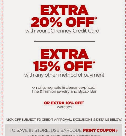 JCPenney Printable Coupons May 2018