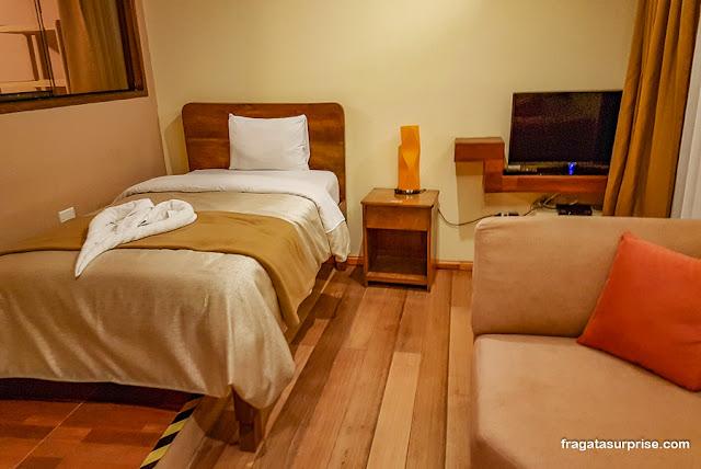 Hospedagem em Ollantaytambo, quarto do Hotel Terra Nostra