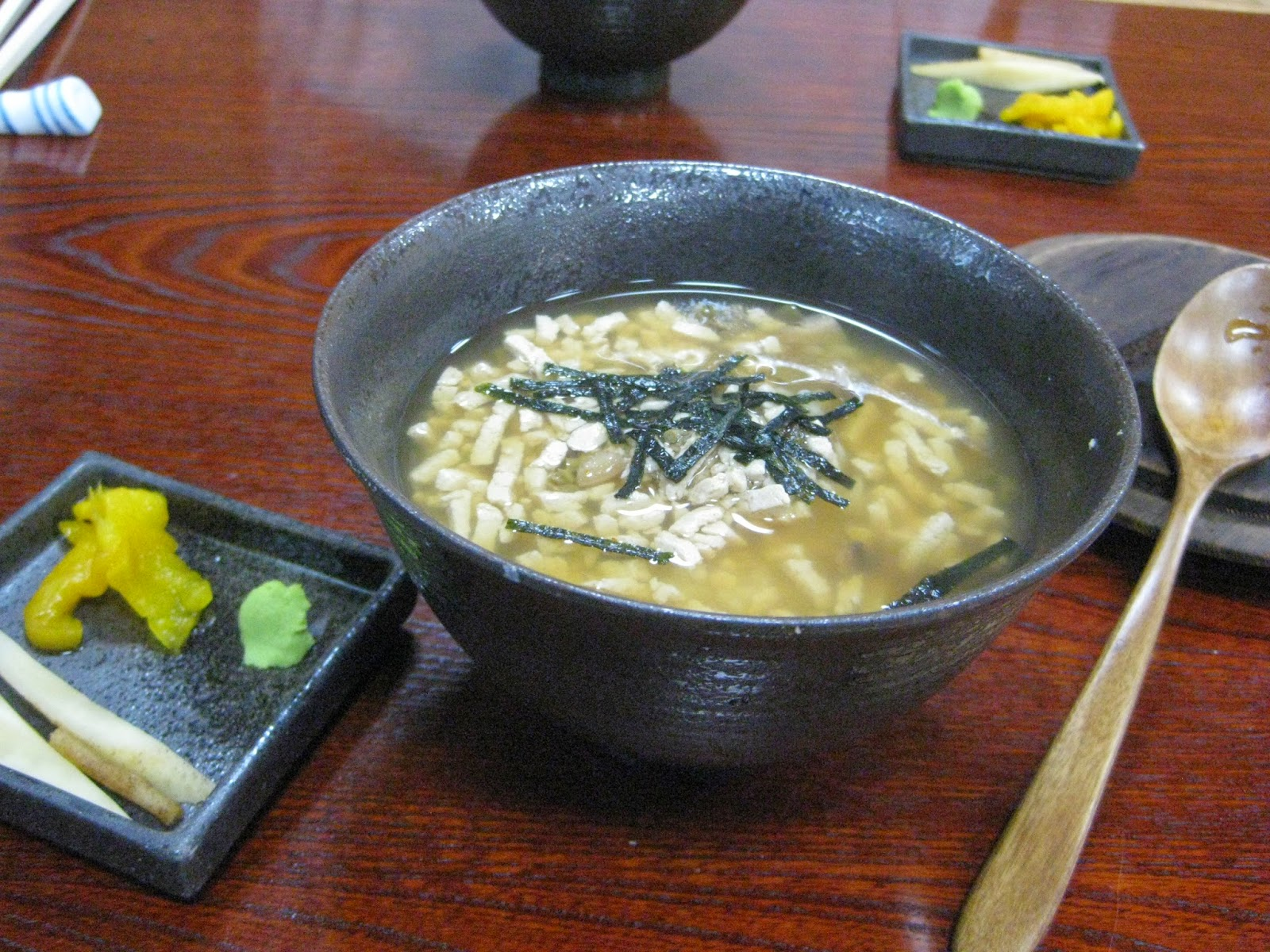 Tokyo - Tofu lunch course #6 - rice, tofu, and broth
