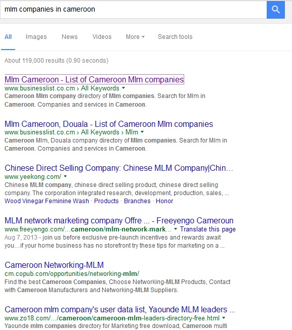 MLM Companies In Nigeria And Cameroon The Search Results Will Be Very Different Screen Shots Can Tell You More Network