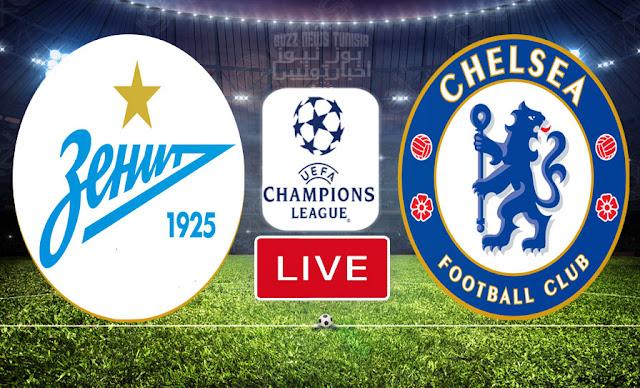 Match En Direct : Chelsea vs Zenit en UEFA Ligue des Champions
