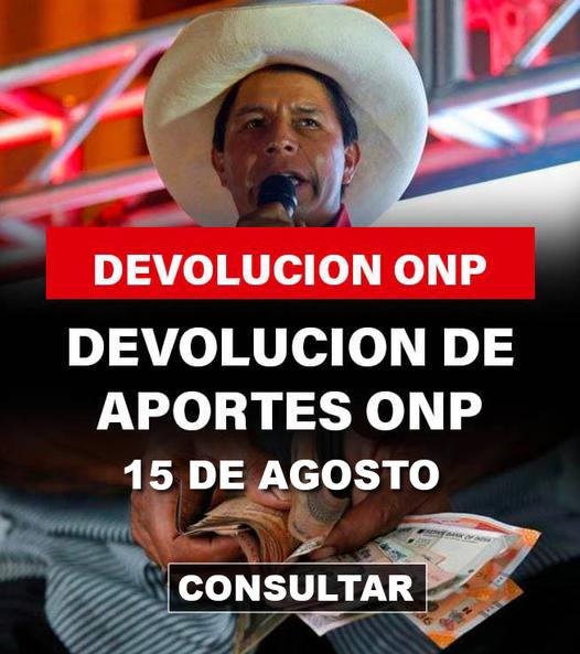 Perú Libre A Fines De Concretar La Devolución ONP Para Aportantes Y Ex-Aportantes