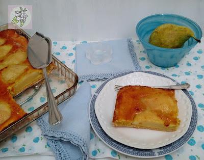 Tarta de Pera con Almendra. Receta Vegana