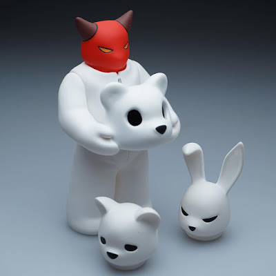 "Designer Con 2016 Debut ""Bears, Rabbits, Devils, Oh My!"" Headspace Vinyl Figure Set #1 by Luke Chueh x Munky King"