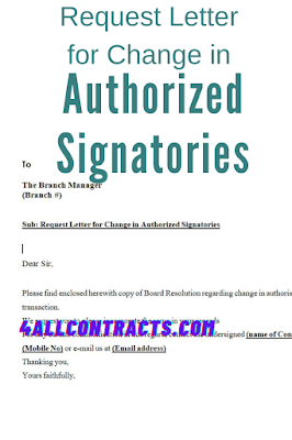 Request Letter for Change in Authorized Signatories - word